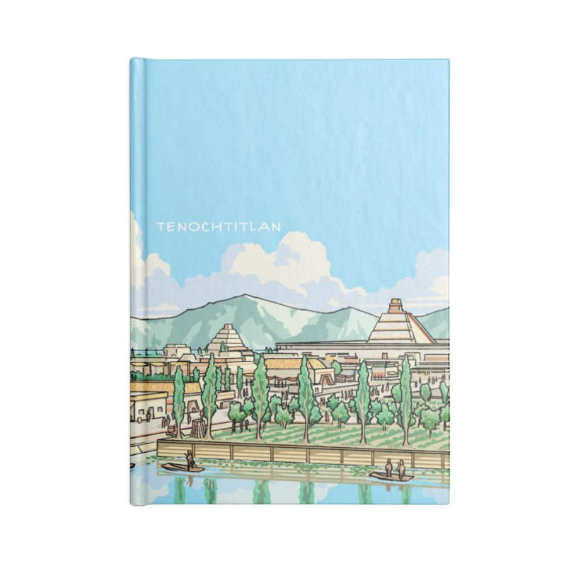 Tenochtitlan Accessories Lined Journal Notebook by Big Red Hair's Artist Shop