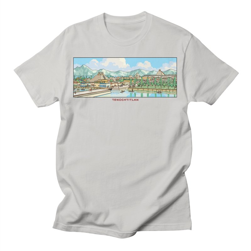 Tenochtitlan Men's T-Shirt by Big Red Hair's Artist Shop