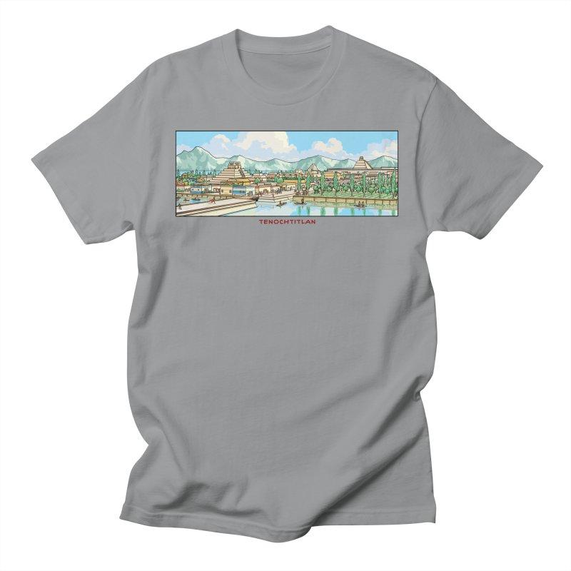 Tenochtitlan Men's Regular T-Shirt by Big Red Hair's Artist Shop