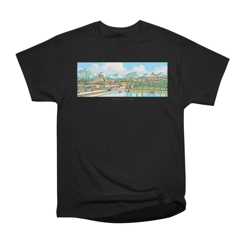Tenochtitlan Women's Heavyweight Unisex T-Shirt by Big Red Hair's Artist Shop