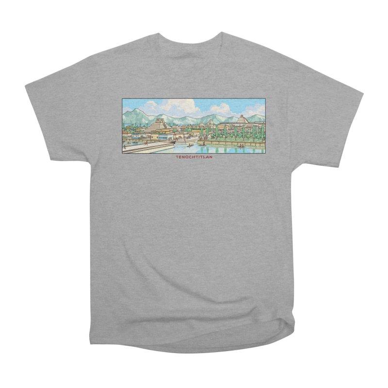 Tenochtitlan Men's Heavyweight T-Shirt by Big Red Hair's Artist Shop