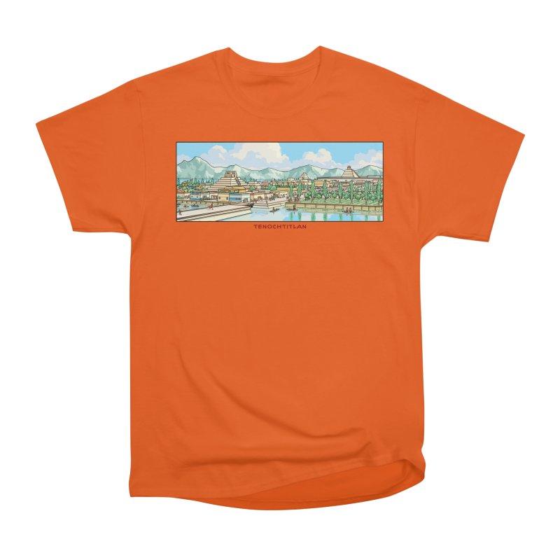 Tenochtitlan Women's Heavyweight Unisex T-Shirt by Big Red Hair's Artist Shop