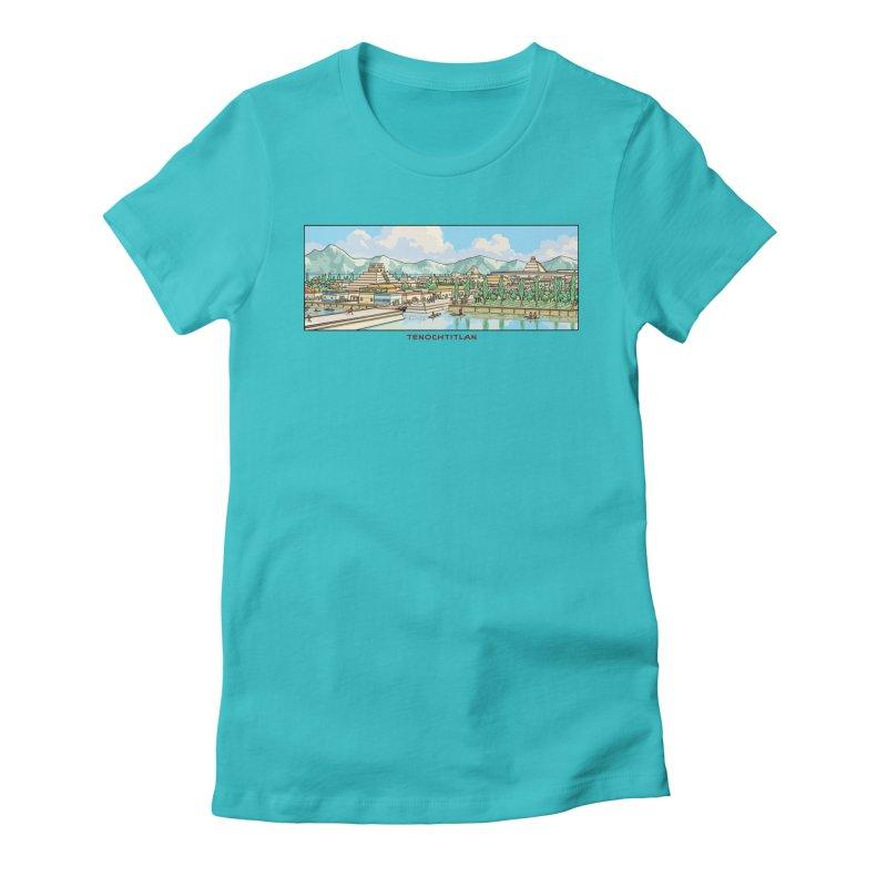 Tenochtitlan Women's T-Shirt by Big Red Hair's Artist Shop