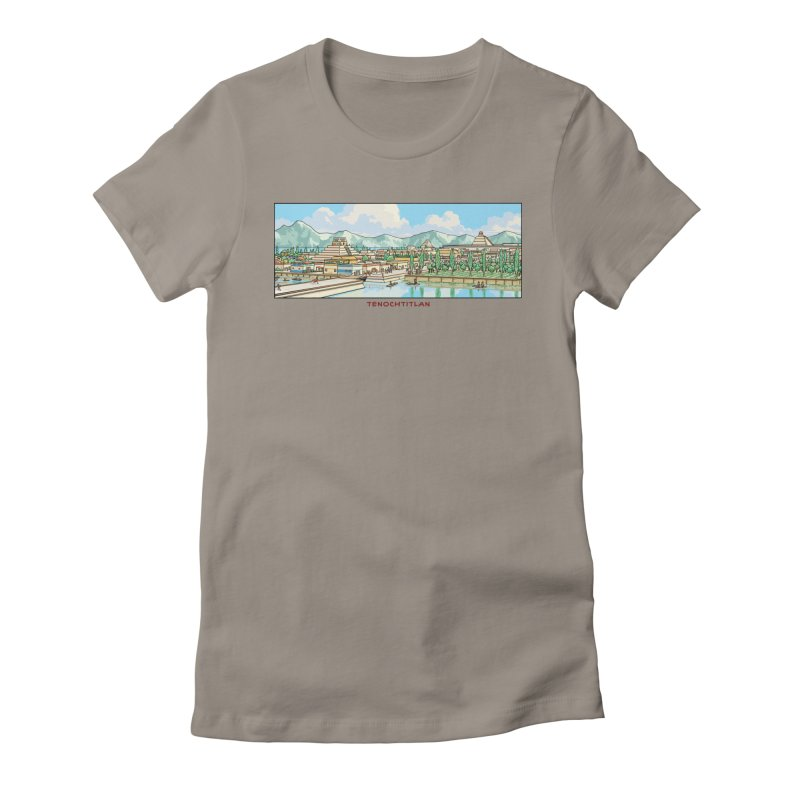 Tenochtitlan Women's Fitted T-Shirt by Big Red Hair's Artist Shop