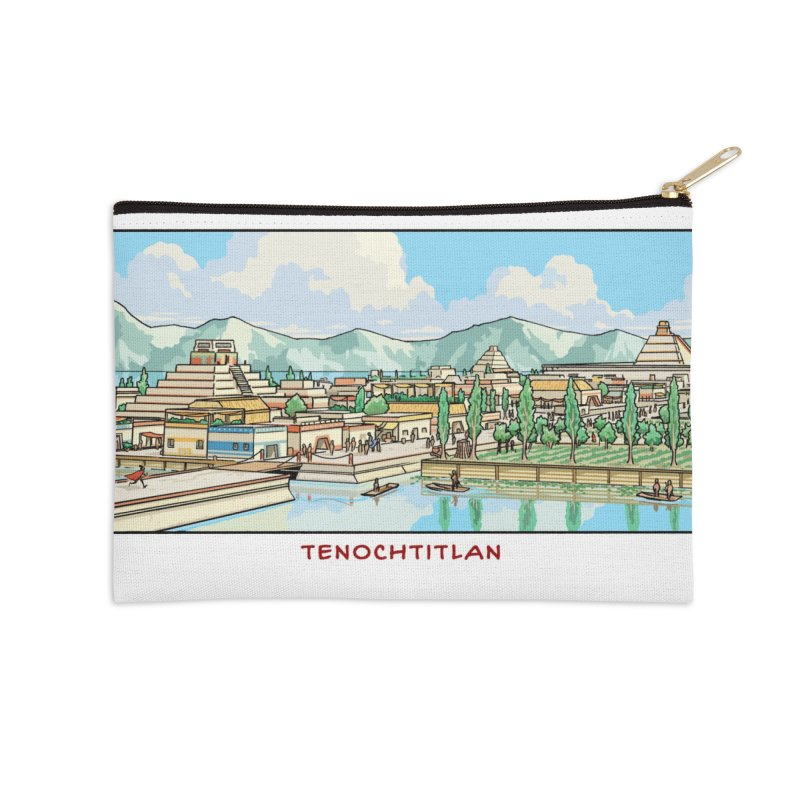 Tenochtitlan Accessories Zip Pouch by Big Red Hair's Artist Shop