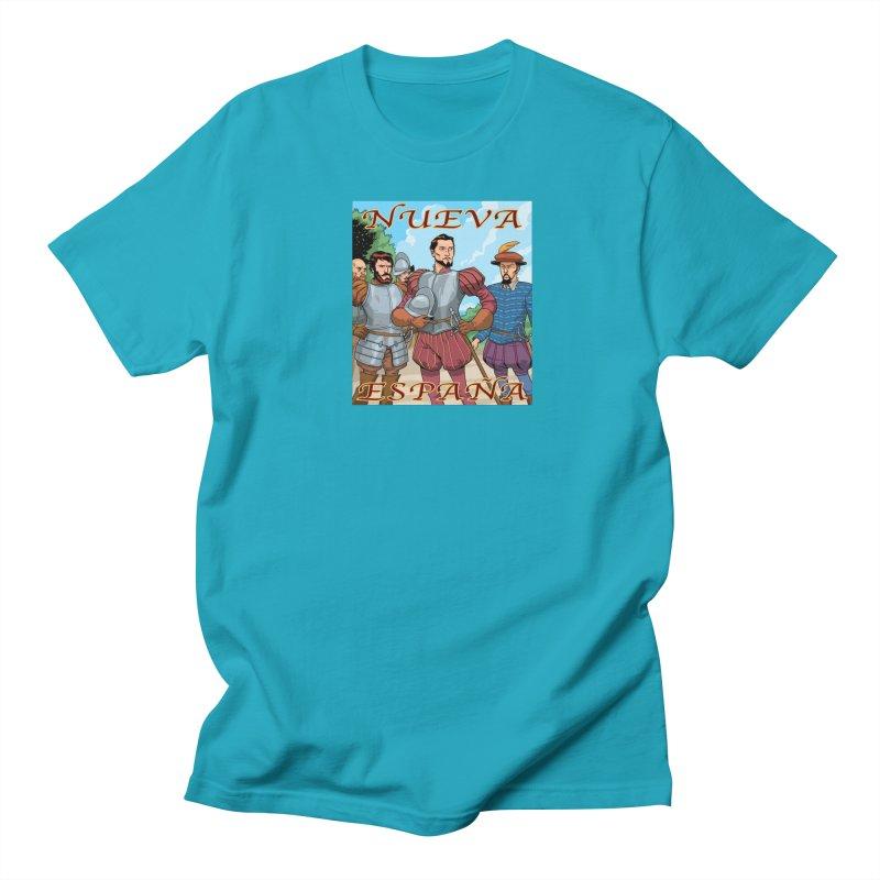 Aztec Empire: Cortes T-shirt Men's Regular T-Shirt by Big Red Hair's Artist Shop