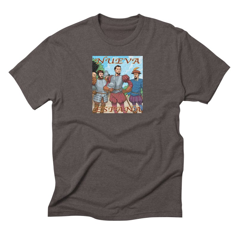 Aztec Empire: Cortes T-shirt Men's Triblend T-Shirt by Big Red Hair's Artist Shop