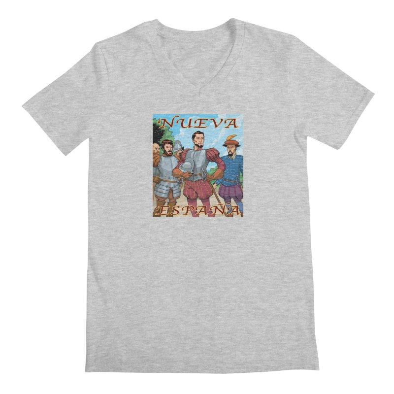 Aztec Empire: Cortes T-shirt Men's Regular V-Neck by Big Red Hair's Artist Shop
