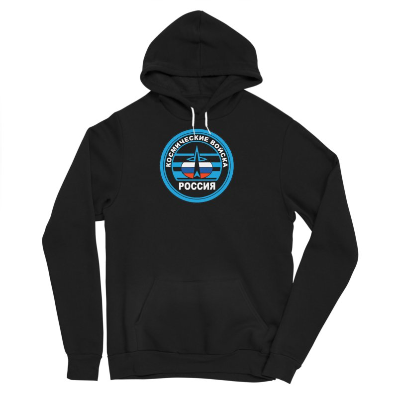 Russia Space Force Men's Sponge Fleece Pullover Hoody by Big Red Hair's Artist Shop