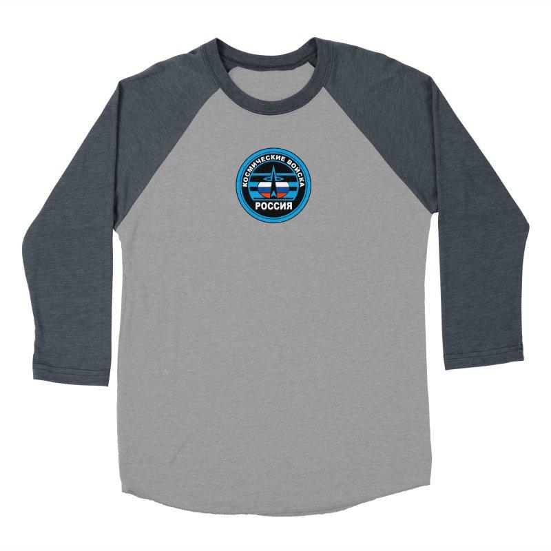Russia Space Force Women's Baseball Triblend Longsleeve T-Shirt by Big Red Hair's Artist Shop