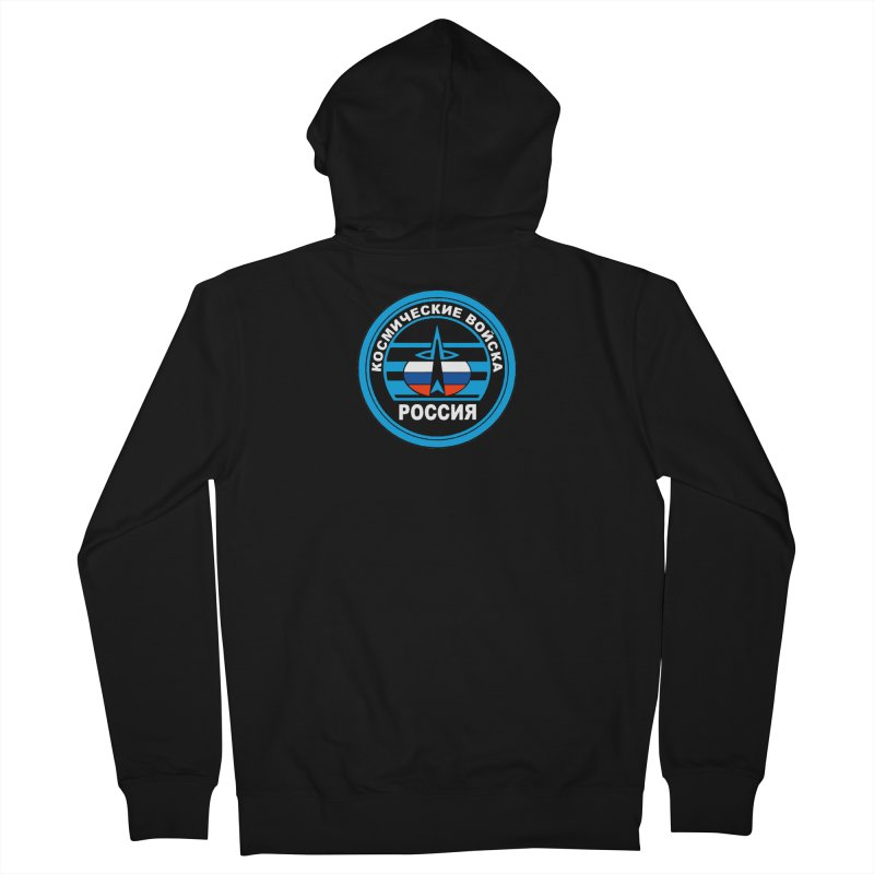 Russia Space Force Men's French Terry Zip-Up Hoody by Big Red Hair's Artist Shop