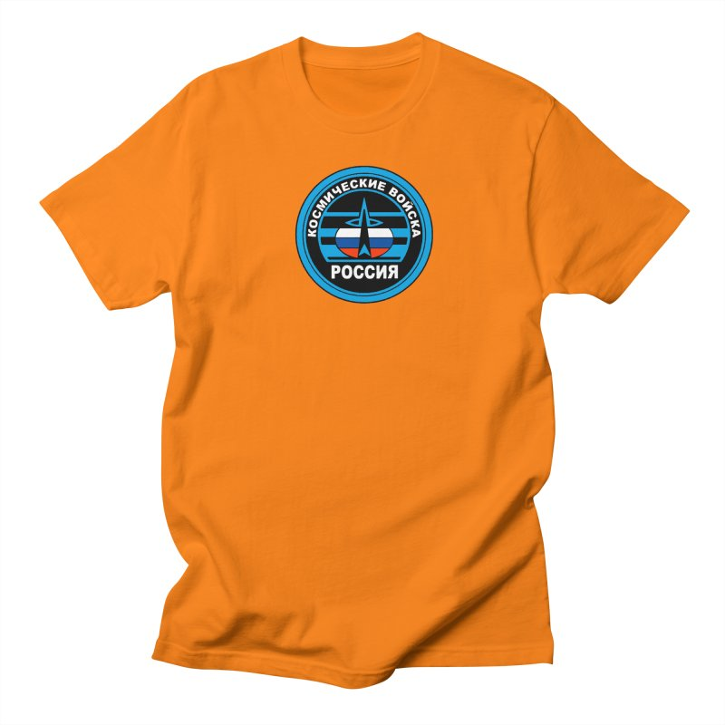 Russia Space Force Men's Regular T-Shirt by Big Red Hair's Artist Shop