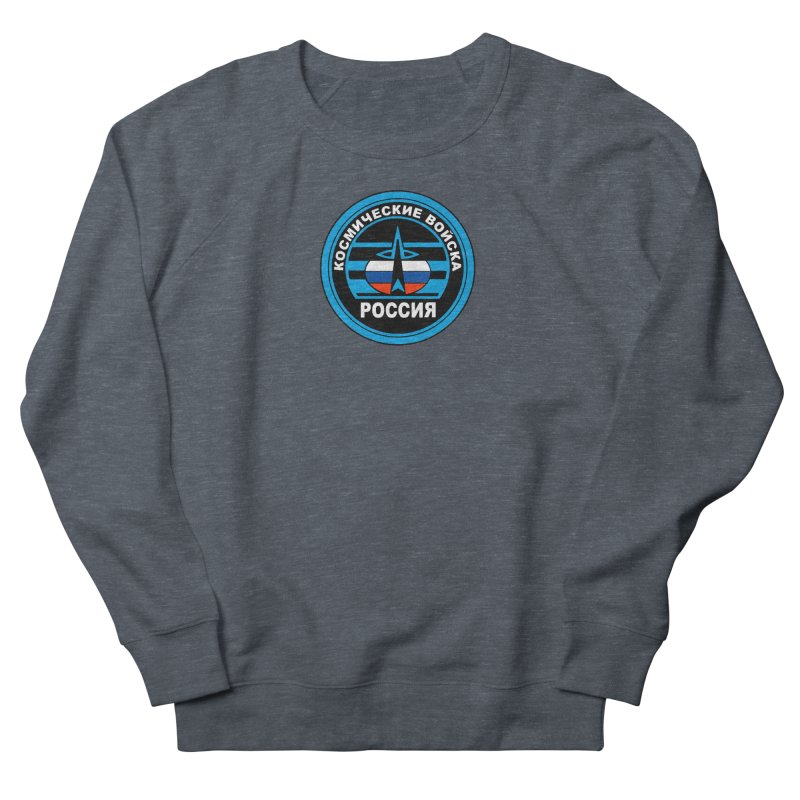 Russia Space Force Men's French Terry Sweatshirt by Big Red Hair's Artist Shop