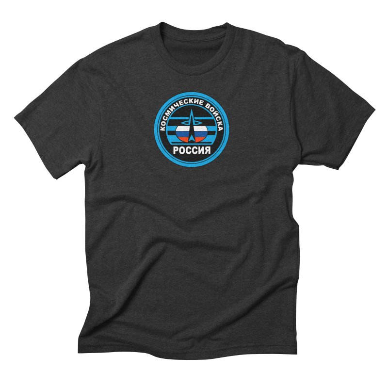 Russia Space Force Men's Triblend T-Shirt by Big Red Hair's Artist Shop