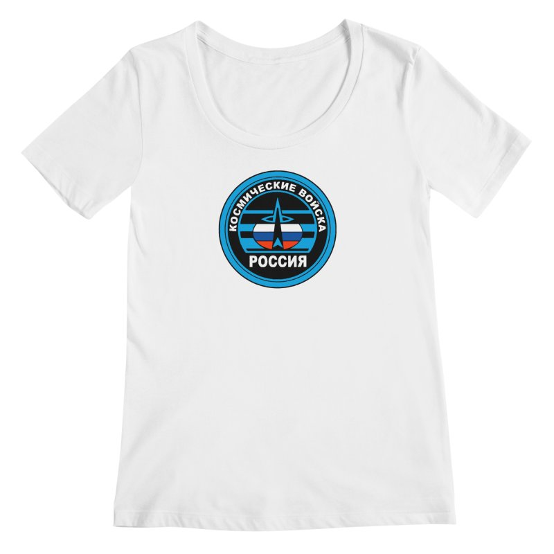 Russia Space Force Women's Regular Scoop Neck by Big Red Hair's Artist Shop