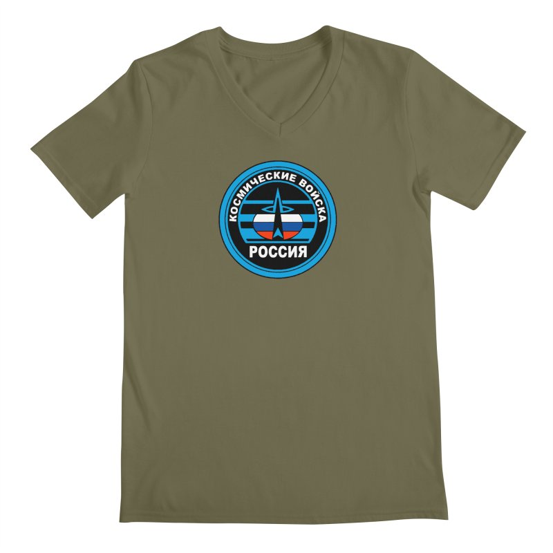 Russia Space Force Men's Regular V-Neck by Big Red Hair's Artist Shop