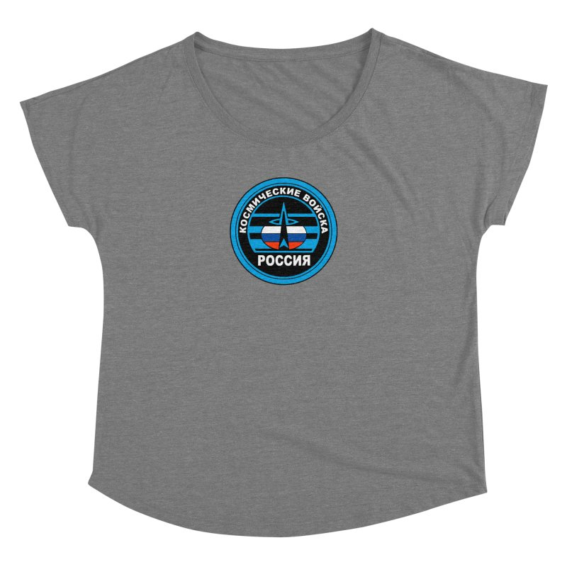 Russia Space Force Women's Dolman Scoop Neck by Big Red Hair's Artist Shop