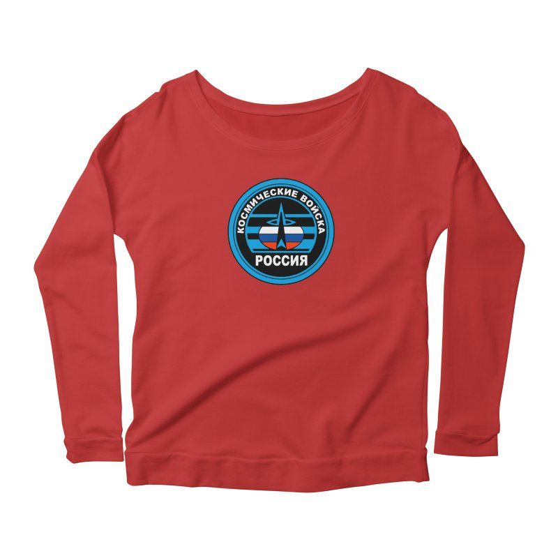 Russia Space Force Women's Scoop Neck Longsleeve T-Shirt by Big Red Hair's Artist Shop