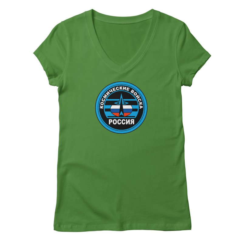 Russia Space Force Women's Regular V-Neck by Big Red Hair's Artist Shop