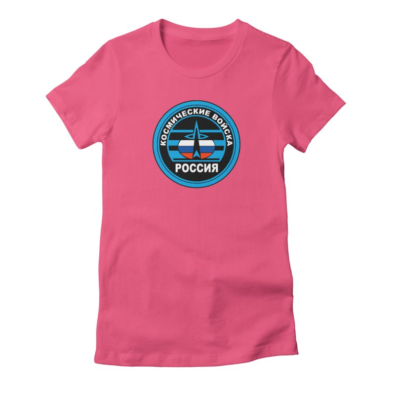 Russia Space Force Women's Fitted T-Shirt by Big Red Hair's Artist Shop