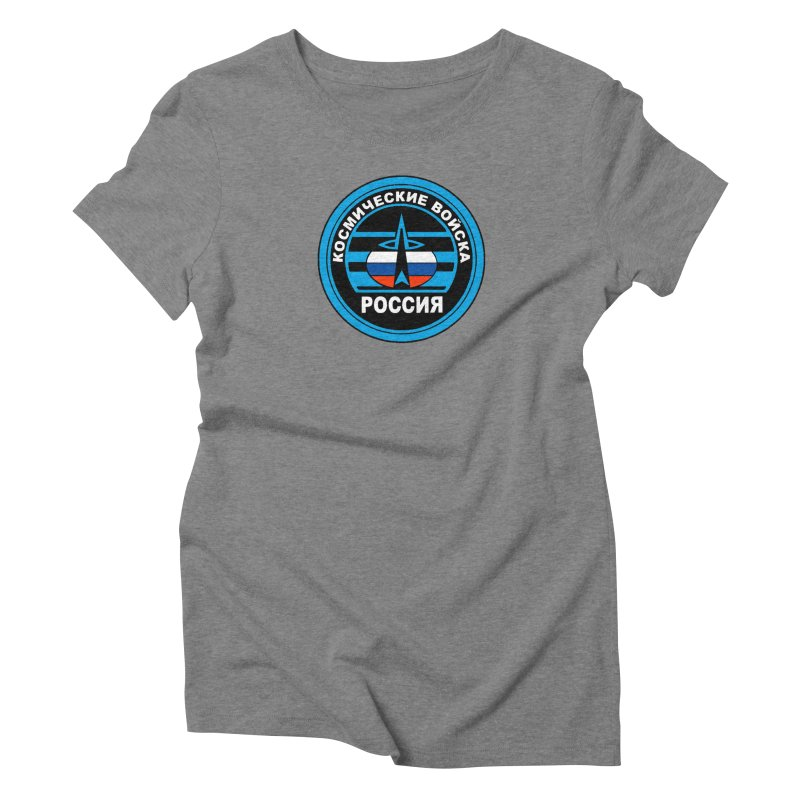 Russia Space Force Women's Triblend T-Shirt by Big Red Hair's Artist Shop