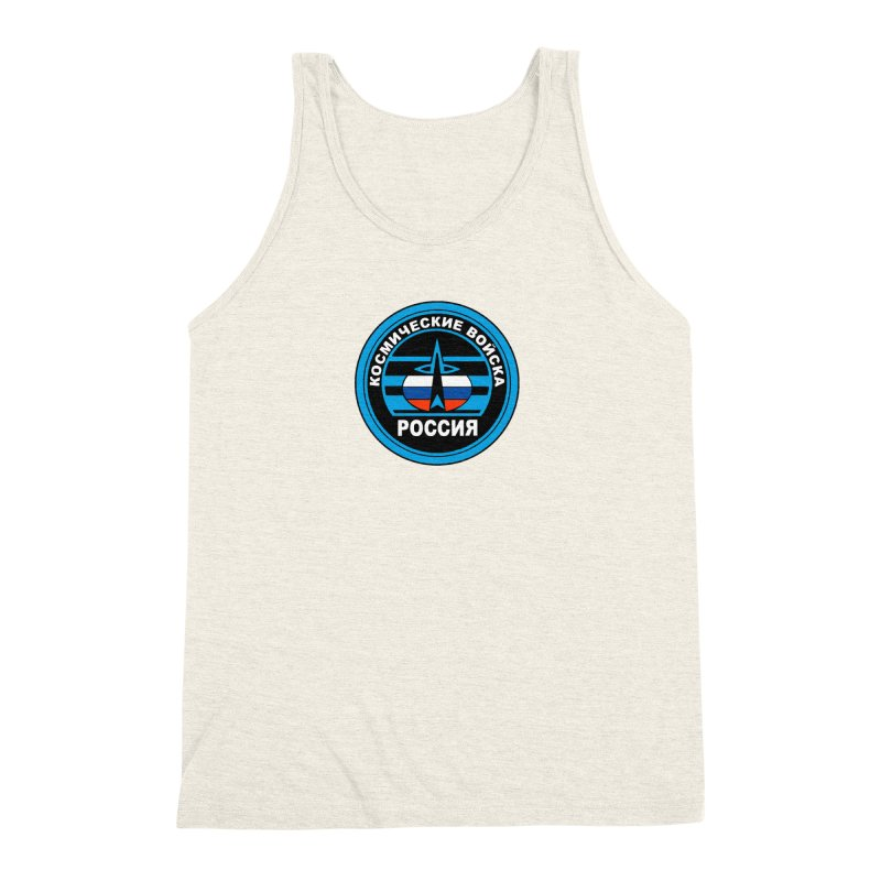 Russia Space Force Men's Triblend Tank by Big Red Hair's Artist Shop