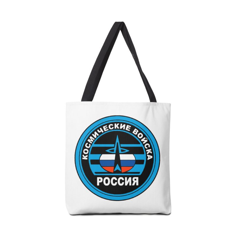 Russia Space Force Accessories Tote Bag Bag by Big Red Hair's Artist Shop