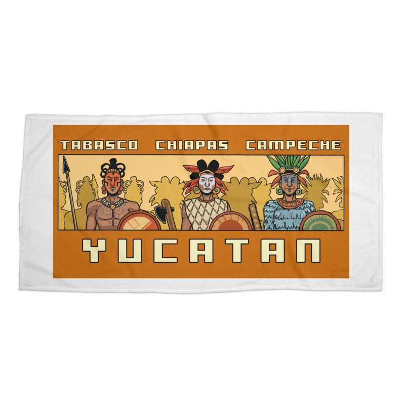 Yucatan Accessories Beach Towel by Big Red Hair's Artist Shop