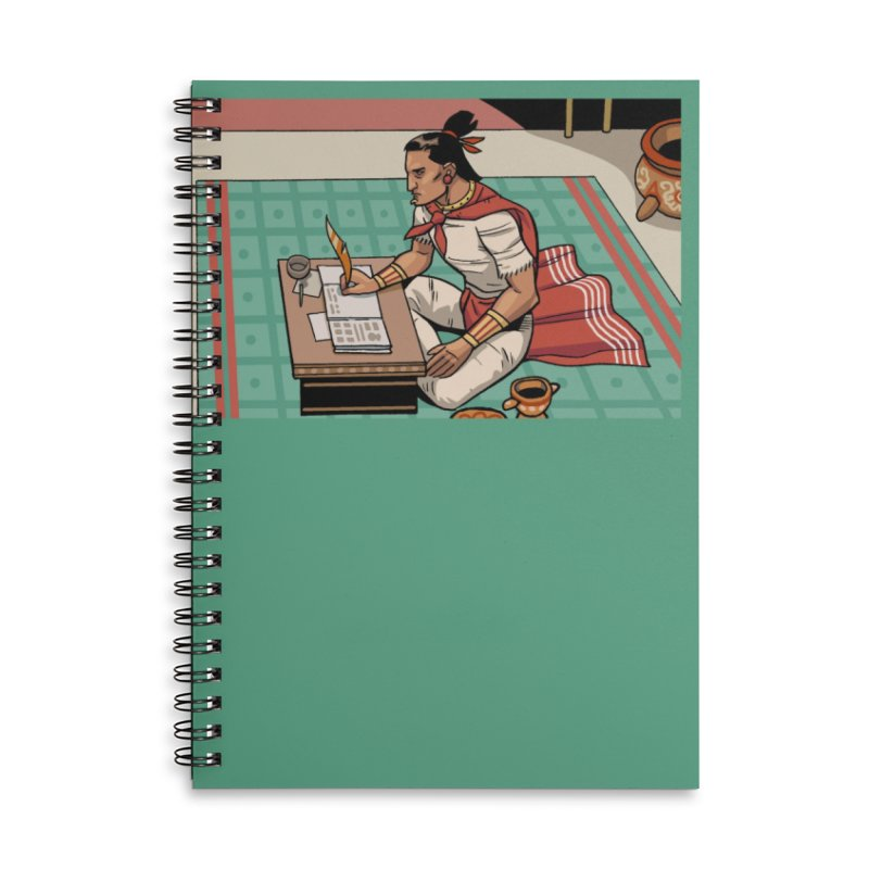 Master of the House of Darts Accessories Lined Spiral Notebook by Big Red Hair's Artist Shop