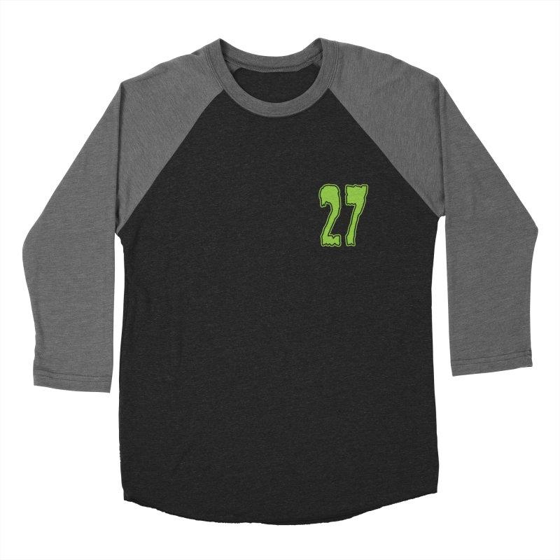 27 Pocket Logo Men's Baseball Triblend Longsleeve T-Shirt by Billy Martin's Artist Shop