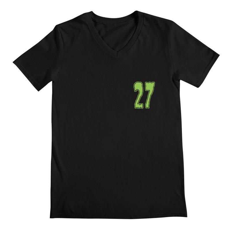 27 Pocket Logo Men's Regular V-Neck by Billy Martin's Artist Shop