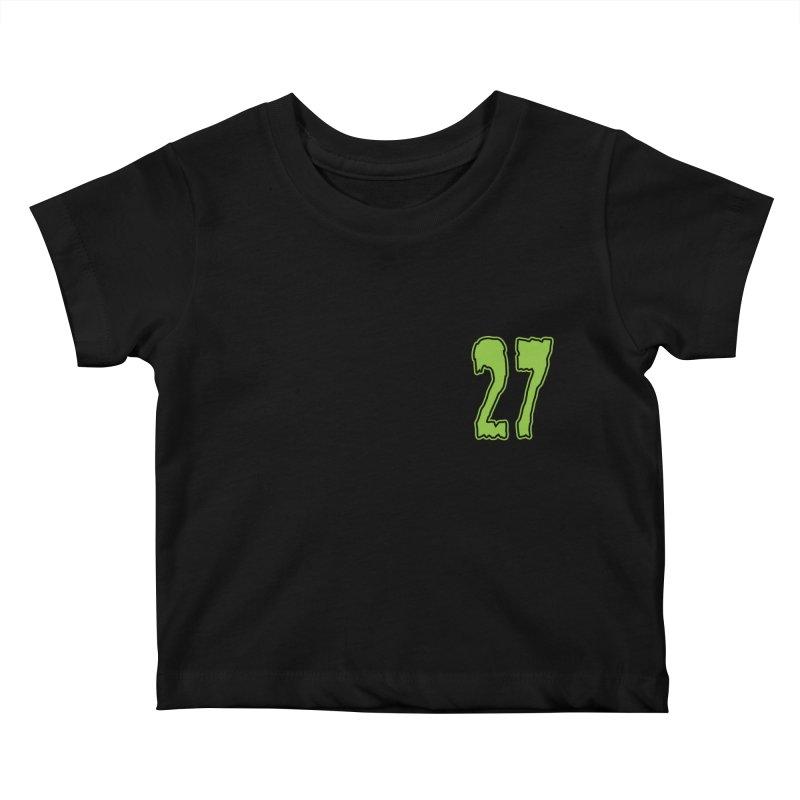 27 Pocket Logo Kids Baby T-Shirt by Billy Martin's Artist Shop