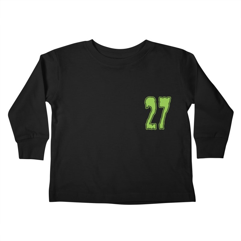 27 Pocket Logo Kids Toddler Longsleeve T-Shirt by Billy Martin's Artist Shop