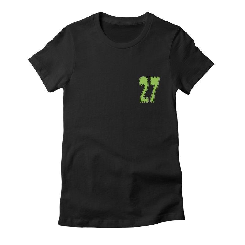 27 Pocket Logo Women's Fitted T-Shirt by Billy Martin's Artist Shop