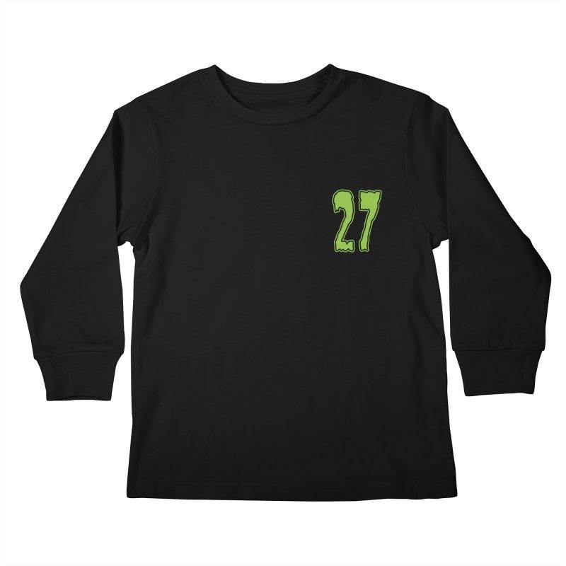 27 Pocket Logo Kids Longsleeve T-Shirt by Billy Martin's Artist Shop