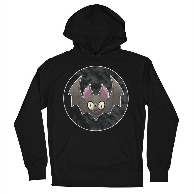 Batty Men's French Terry Pullover Hoody by Billy Martin's Artist Shop
