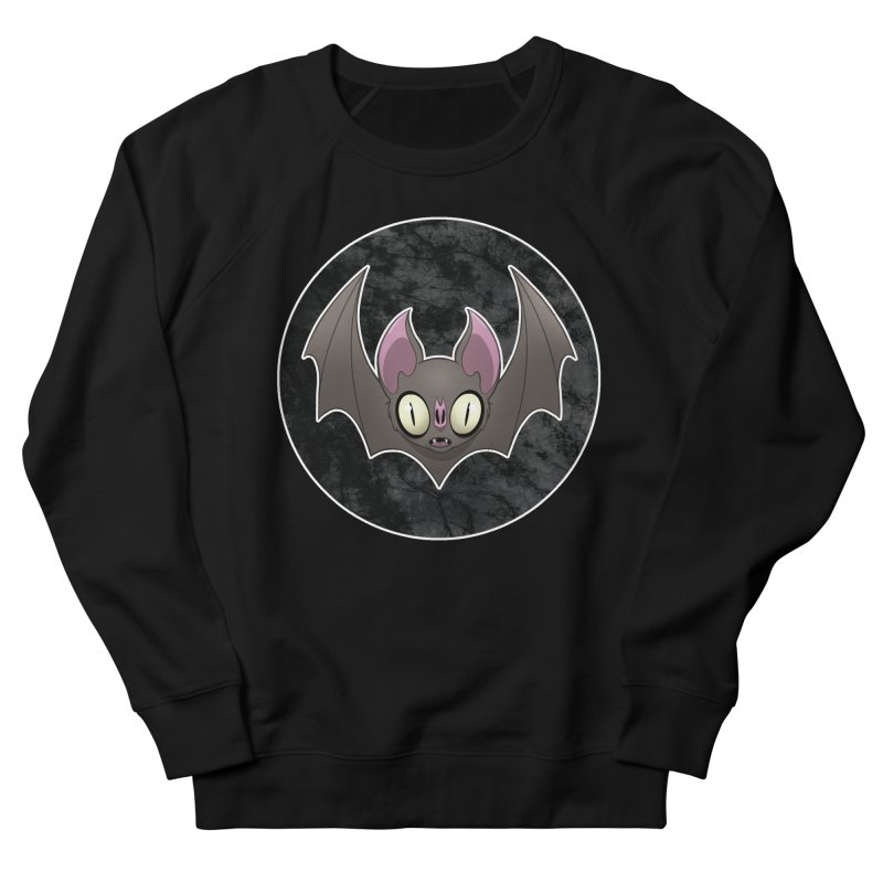 Batty Women's French Terry Sweatshirt by Billy Martin's Artist Shop