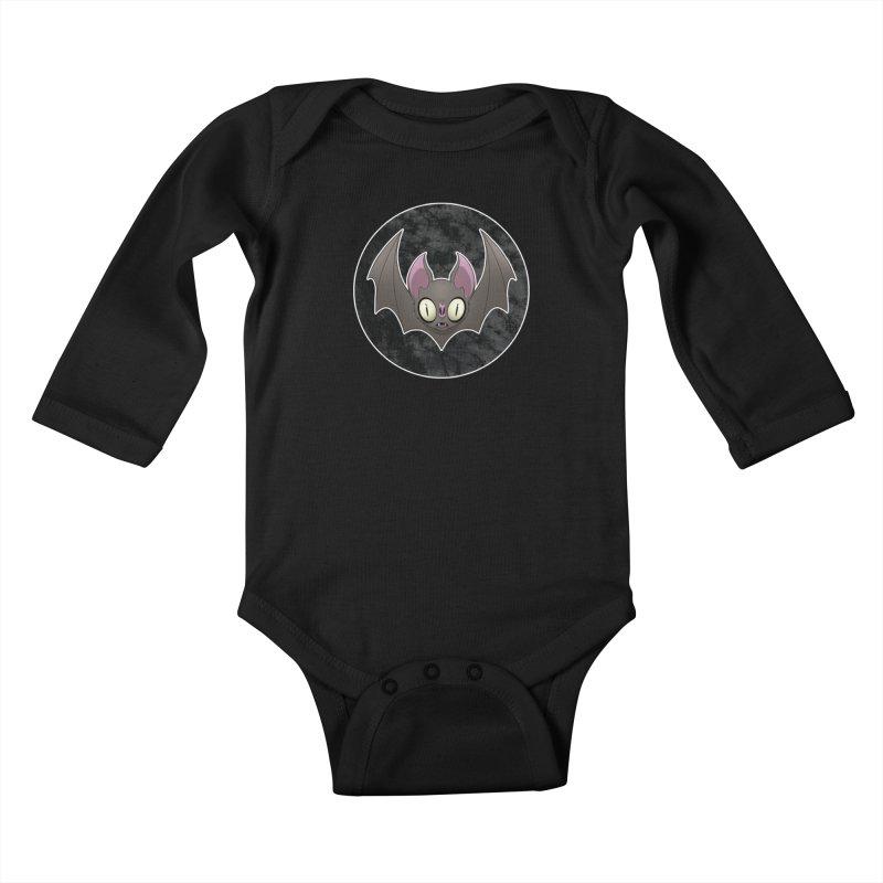 Batty Kids Baby Longsleeve Bodysuit by Billy Martin's Artist Shop