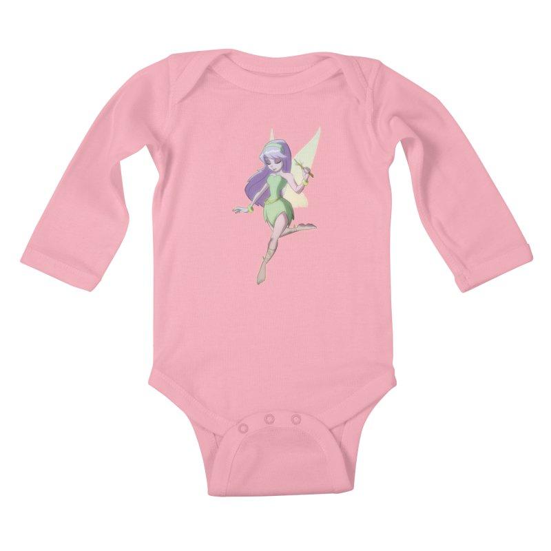 Fairy Kids Baby Longsleeve Bodysuit by Billy Martin's Artist Shop