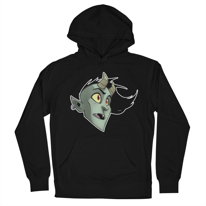 Demon Head Men's French Terry Pullover Hoody by Billy Martin's Artist Shop