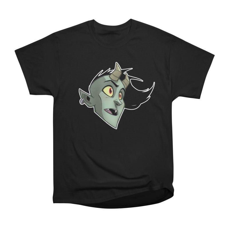 Demon Head Women's Heavyweight Unisex T-Shirt by Billy Martin's Artist Shop