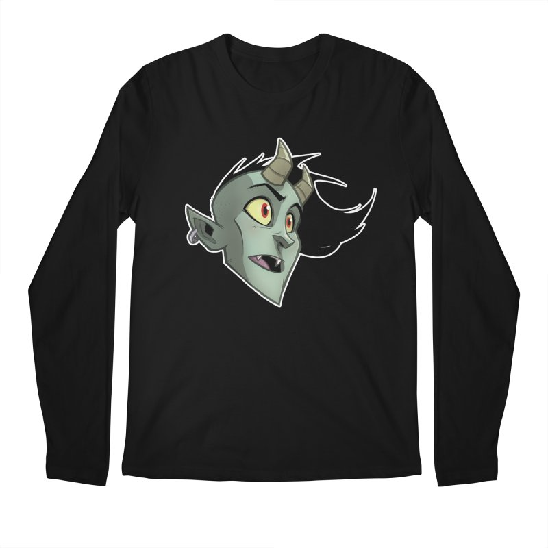 Demon Head Men's Regular Longsleeve T-Shirt by Billy Martin's Artist Shop