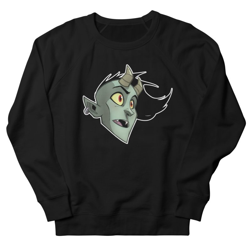Demon Head Men's French Terry Sweatshirt by Billy Martin's Artist Shop