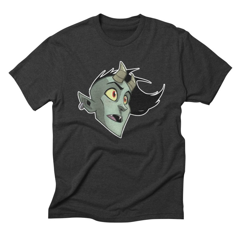 Demon Head Men's Triblend T-Shirt by Billy Martin's Artist Shop