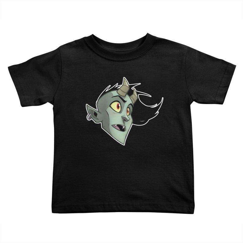 Demon Head Kids Toddler T-Shirt by Billy Martin's Artist Shop