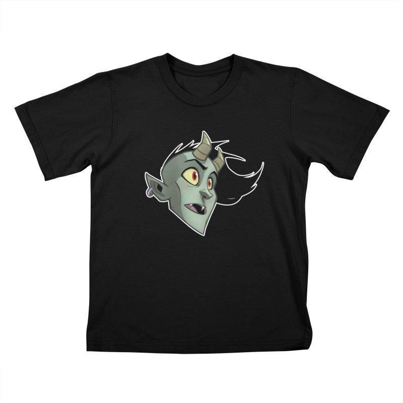 Demon Head Kids T-Shirt by Billy Martin's Artist Shop