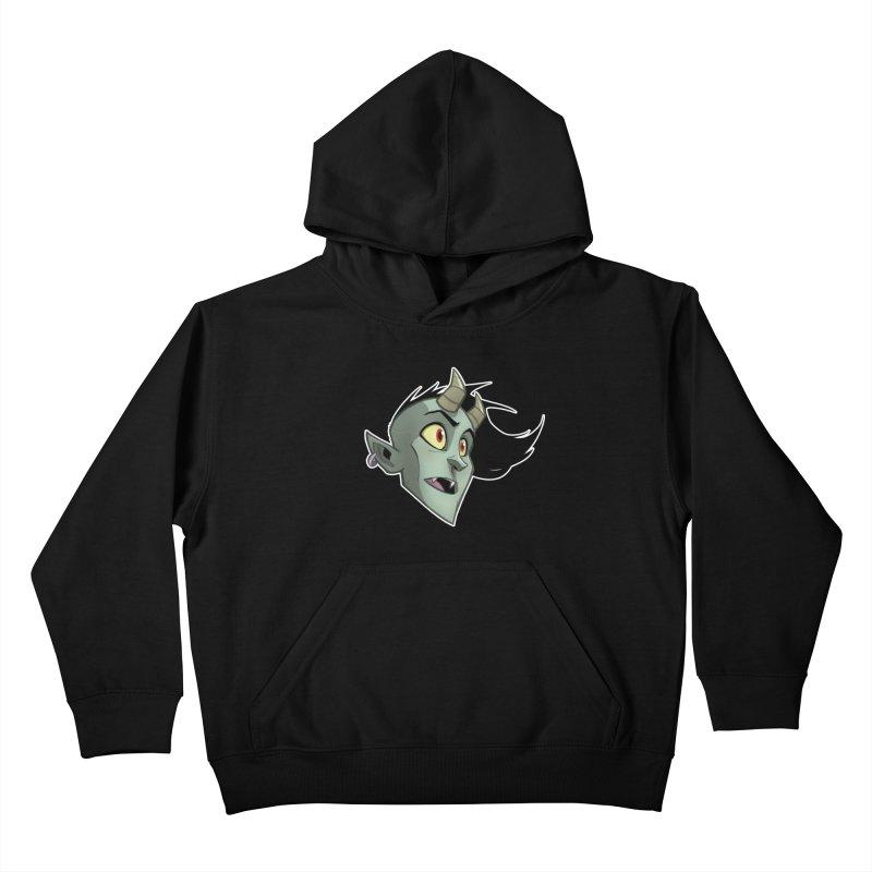 Demon Head Kids Pullover Hoody by Billy Martin's Artist Shop
