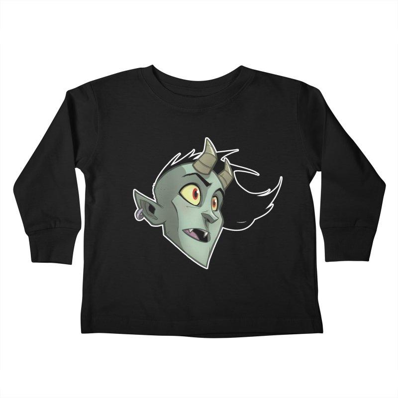 Demon Head Kids Toddler Longsleeve T-Shirt by Billy Martin's Artist Shop