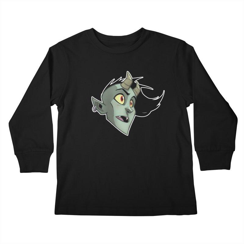 Demon Head Kids Longsleeve T-Shirt by Billy Martin's Artist Shop