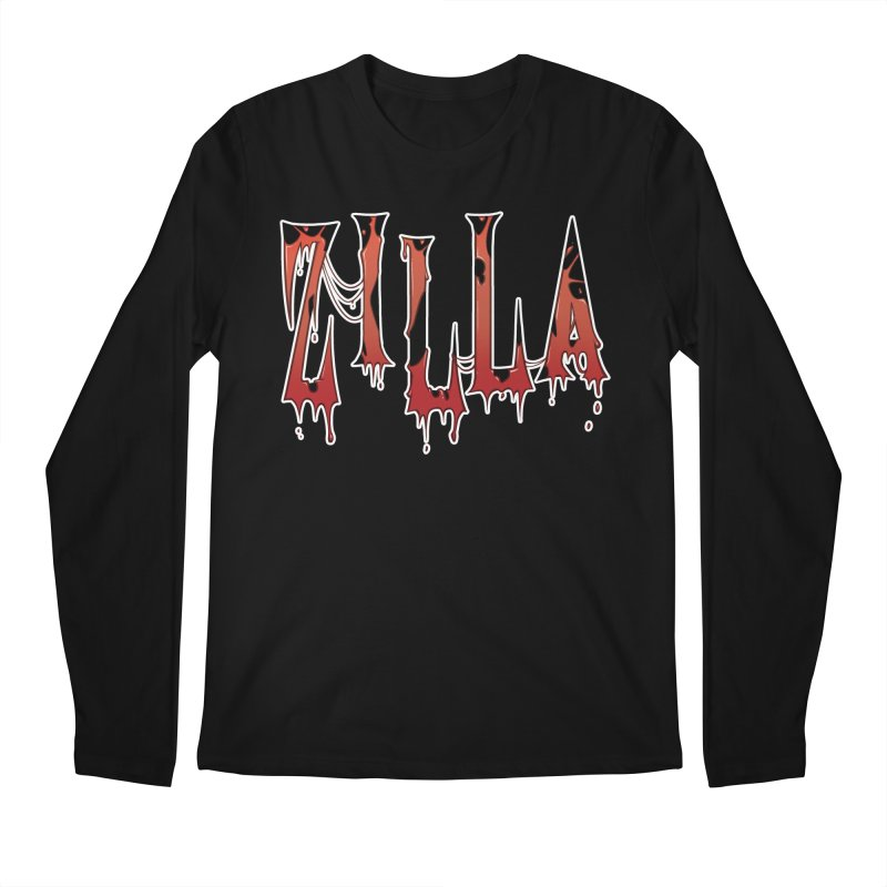 Bloodzilla Men's Regular Longsleeve T-Shirt by Billy Martin's Artist Shop